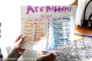 list of cat names