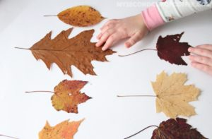 simple fall leaf garland