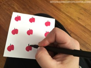 Apple Stamp Teacher Appreciation Card