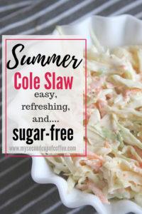 sugar-free coleslaw